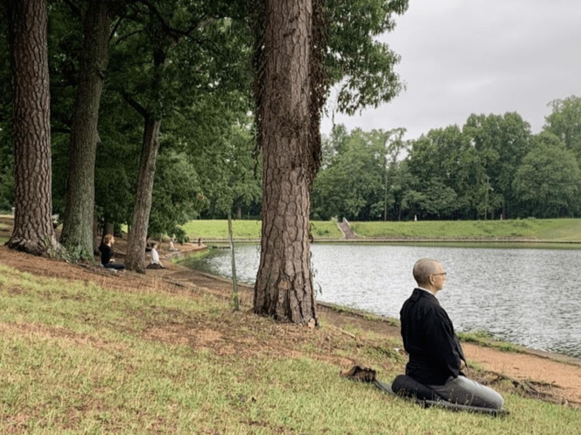 Richmond Zen Center: Sitting Zazen by the Water
